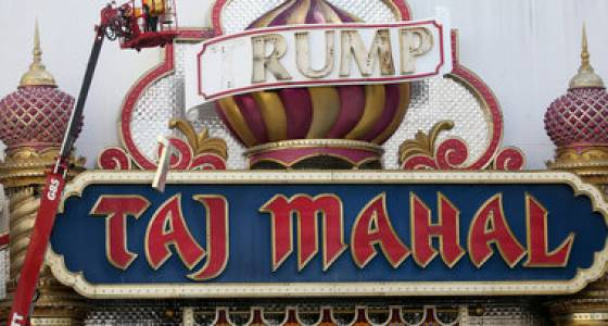 Companies fight over ownership of 'Trump' signs taken from Taj Mahal