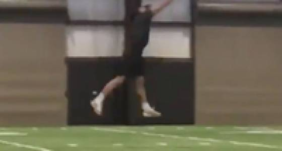 Draft prospect gets Odell Beckham's attention with great catch
