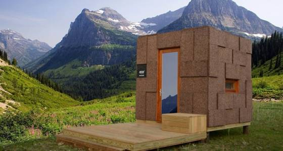 Ecocubo is an adaptable prefab cork & wood shelter for travelers (Video)