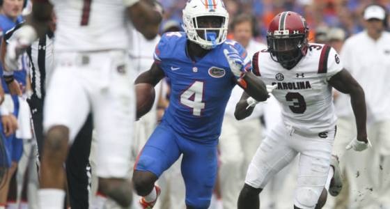 Gators open spring practice flashing improved WR speed
