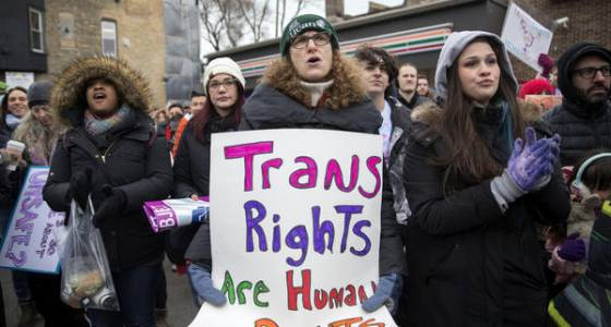 Hundreds rally, march for transgender rights in Boystown