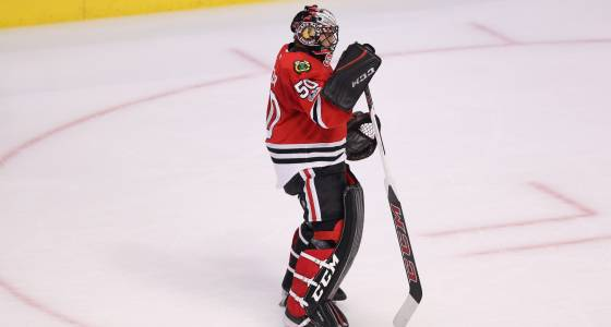 Illness keeps Corey Crawford out of game vs. Blues