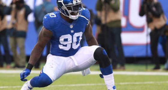 Jason Pierre-Paul receives franchise tag from Giants, report says