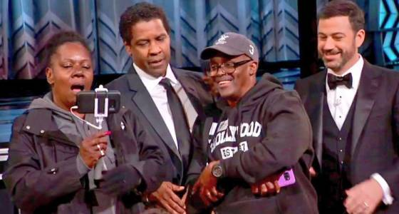 Jimmy Kimmel brought surprised tourists to the Oscars, and Denzel Washington 'married' them (w/video)