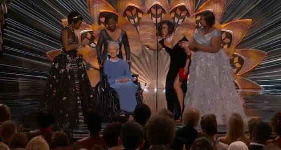 Katherine Johnson, 98-year-old NASA mathematician portrayed in 'Hidden Figures,' takes the Oscars stage (w/video)