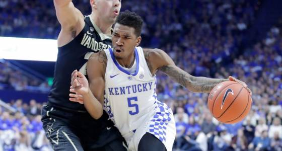Kentucky can't keep pushing its luck in March