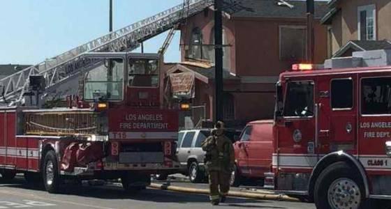 LAFD firefighter injured battling LA duplex blaze