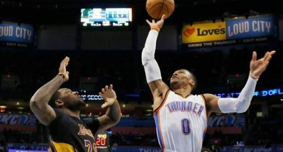 Lakers get back to work and lose to the Thunder, 110-93