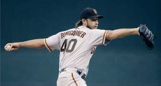 Madison Bumgarner remains winless as Giants fall to Royals 2-0