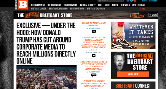 Major Republican donors' stake in far-right media outlet Breitbart is confirmed