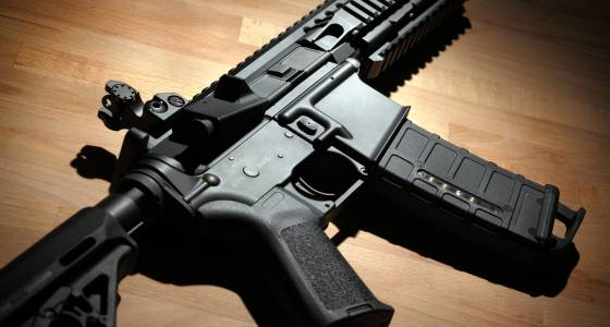 Man arrested for stalking ex had assault rifle in apartment