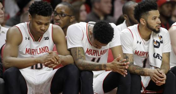 Maryland men trounced by Iowa at home, see slide continue