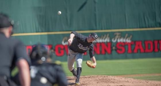Matt Mercer, Oregon Ducks baseball shut out Seton Hall in San Diego