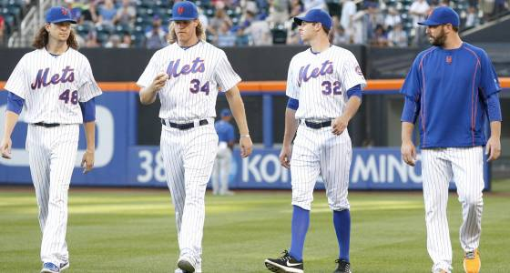 Mets' staff of aces now a staff of mustaches