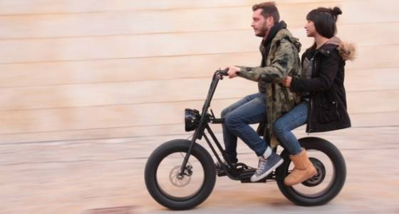 MOKE is a powerful electric fat tire utility bike that seats two