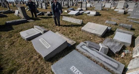 Money being raised to restore vandalized Jewish cemetery