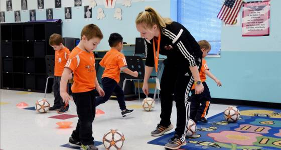 More joy, less scoring for preschoolers in sports