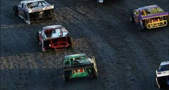 NASCAR drivers processing dirt track incident