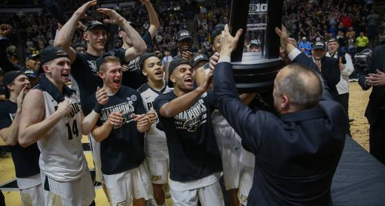 No. 16 Purdue dances past Indiana for share of Big Ten crown