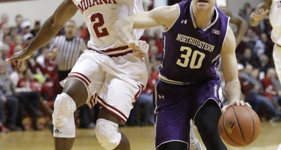 Northwestern lets one slip away in 63-62 loss to Indiana