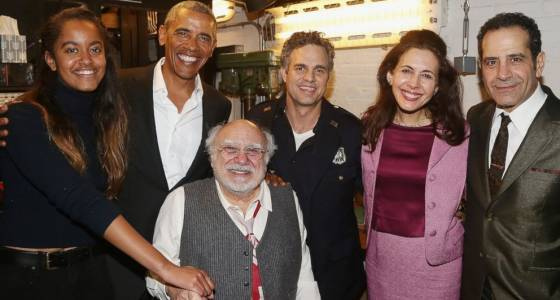 Obama and daughter Malia attend 'The Price' on Broadway