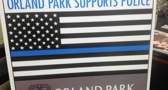 Orland Park vehicle sticker with Blue Lives Matter symbol stirs debate