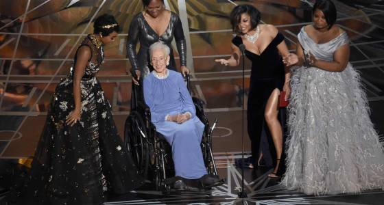 Oscars give standing ovation to Katherine Johnson, one of the 'Hidden Figures' subjects