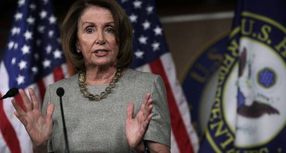 Pelosi: Trump 'has nothing at all to show' for 1st month in office except 'fear'