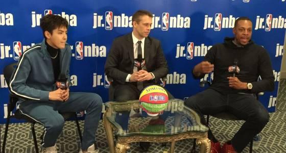 Pierce on board with China's Jr. NBA program