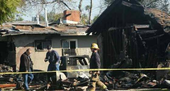Plane that crashed into Riverside neighborhood had engine that wouldn't start, witness says