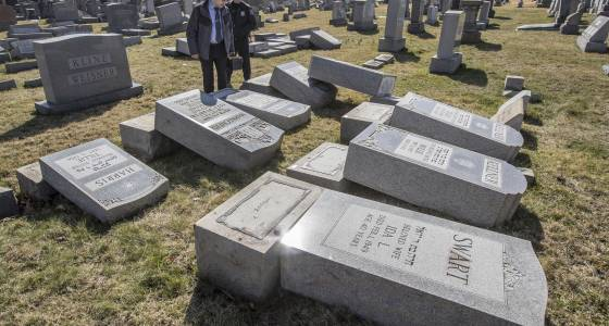 Police say more than 100 Jewish cemetery headstones damaged in Philadelphia