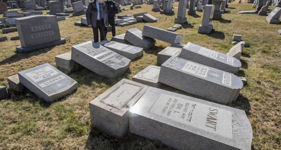Police say more than 100 Jewish cemetery headstones damaged