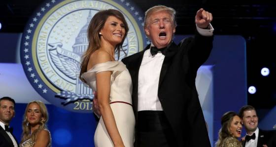 President Trump, 1st lady host 1st ball in the White Property