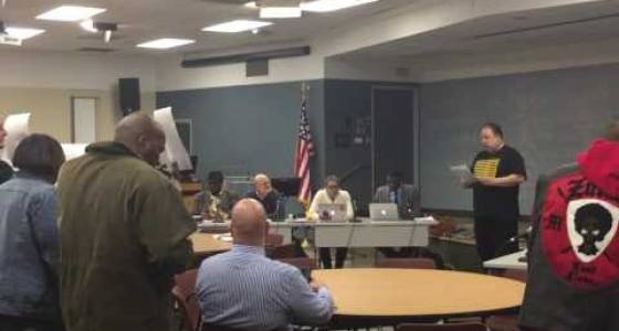 Protesters demand police union president's resignation from community police commission