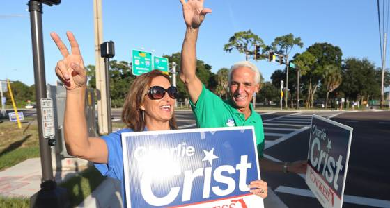 Rep. Charlie Crist is divorcing his wife, Carole (w/video)