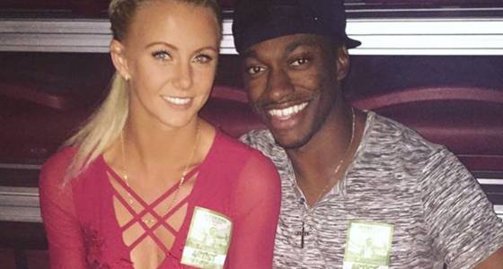 RG3's girlfriend also acts as his bodyguard
