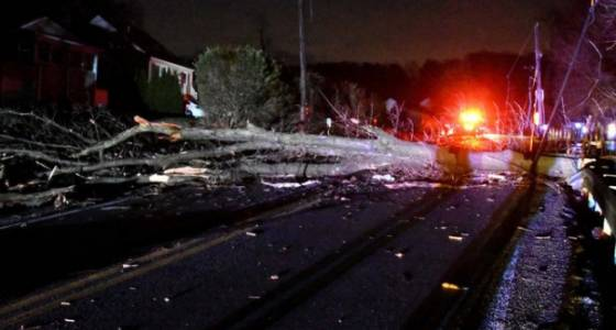 Roofs blown, trees down and power cut to hundreds across region