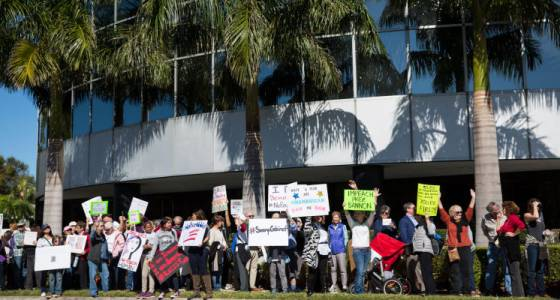 Rubio is asked to leave Tampa office over disruption from weekly protests