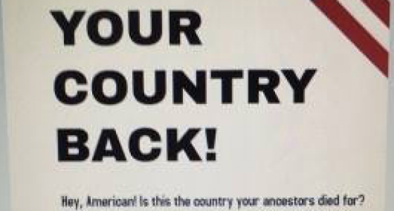 Rutgers U. conservative group shares flier similar to white supremacist poster