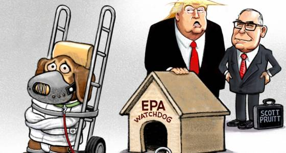 Sack cartoon: Environmental protection under Trump