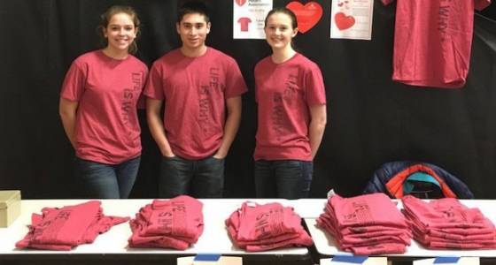 Saucon Valley 'red out' raises $1,300 for heart group