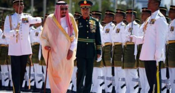 Saudi king kicks off Asia tour in Malaysia