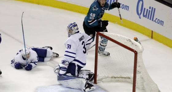 Sharks beat Leafs on Hertl's late winner | Toronto Star