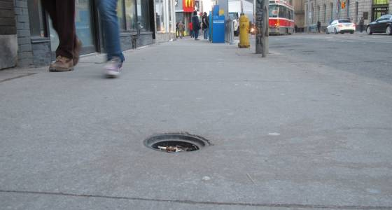 Small sidewalk holes could spell big trouble for pedestrians | Toronto Star