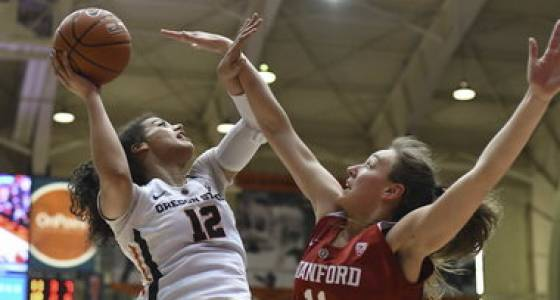 Sydney Wiese and No. 10 Oregon State top No. 8 Stanford in thriller, clinch share of Pac-12 title: Game at a glance