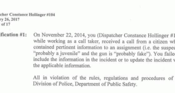 Tamir Rice 911 call-taker has disciplinary hearing
