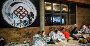 Witnesses: Fewer than 100 back at the university of Hong kong