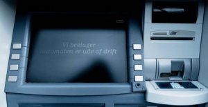 Atm spree: Sprayed with banknotes in Copenhagen