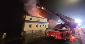 A major fire in Saxony - fire, robbing residents of their homes