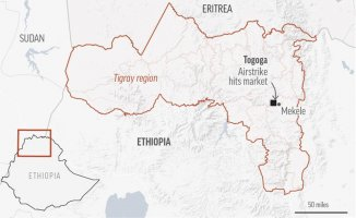 More than 50 people are killed in Ethiopia's Tigray by an airstrike